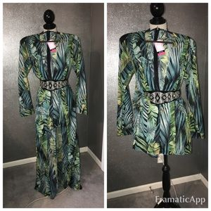 J-lo inspired caped Maxi Romper by Fit Miami: XL